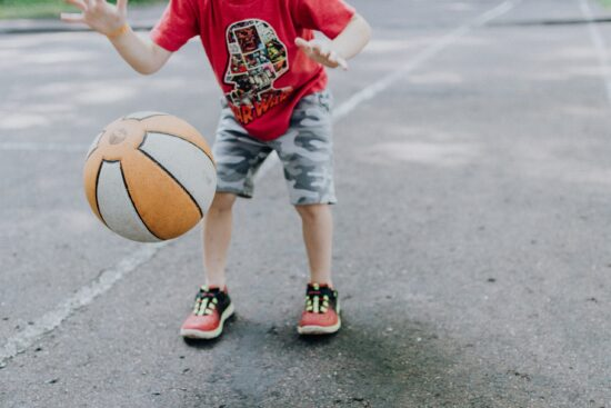 PT bounce basketball